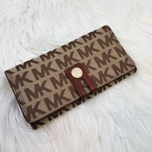 MICHAEL KORS Double Snap Signature Logo Wallet